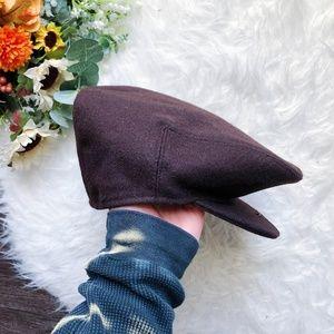 VINTAGE WOOL BROWN NEWSBOY CAP